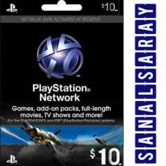 10$ (10 Dolar) PSN Playstation Network Card USA