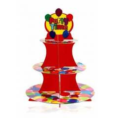 PARTY TIME BALONLU MUFF�N (CUPCAKE) STANDI-3 KAT