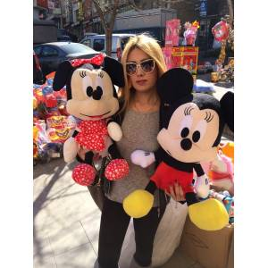 Mickey mouse minnie b�y�k boy pelu� oyuncak