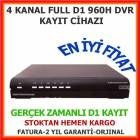 4 KANAL 100 FPS 960H DVR KAYIT C�HAZI HDMI PORT