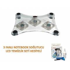 3 FANLI NOTEBOOK SO�UTUCUSU FAN AYARLI FD-709