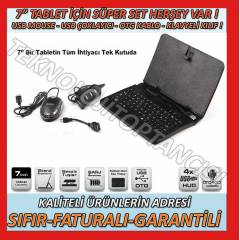 "7"" KLAVYEL� KILIF+OPT�K MOUSE+4 PORT USB SET"