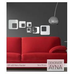 RETRO KARELER AYNA STICKER 54,4x19,8 CM