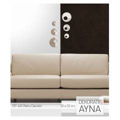 RETRO DAIRELER AYNA STICKER 30x32 CM