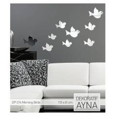 MORNING BIRDS AYNA STICKER 112x61 CM