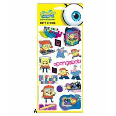 S�NGER BOB PUFFY STICKER 12,4x29,5 CM