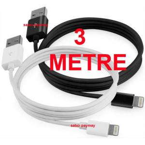 iPhone 5 Usb �arj ve Data Kablosu, 3 METRE