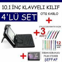 10.1 in� TABLET PC Klavyeli Deri KILIF Stand SET
