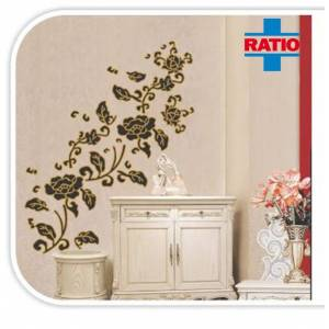 Ratio Gold Flower Duvar Sticker Model T8049