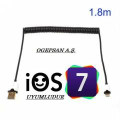 iPHONE 5 / 5S / 5C ios7 UYUMLU DATA �ARJ KABLOSU