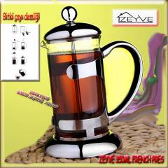 ZEYVE FRENCH PRESS KAHVE �AY DEMLEME PRES� 350ML