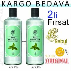 Rebul Kolonya Green Tea  270 ml. | 2 ADET
