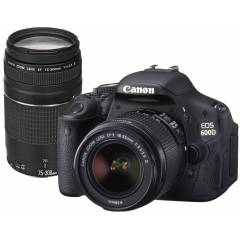 "CANON DSLR 18MP  3"" HD VIDEO 18-55MM & 75-300MM"