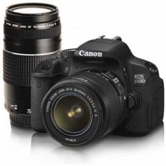 "CANON DSLR 18MP 3"" HD 18-55MM & 75-300 EOS-650D-"