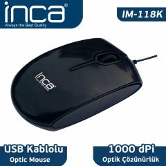 INCA IM-18K USB OPT�K PIANO BLACK MOUSE IM-118K