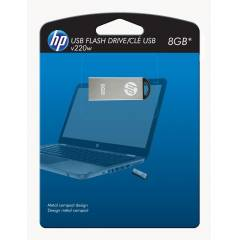 HP 8GB,USB 2.0 Metalik G�m�� ,Flash Bellek V220W