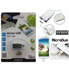 Syrox MicroDuo 16GB Micro Usb Flash Bellek