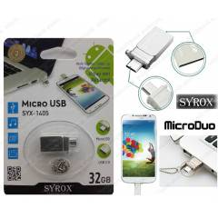 Syrox MicroDuo 32GB Micro Usb Flash Bellek