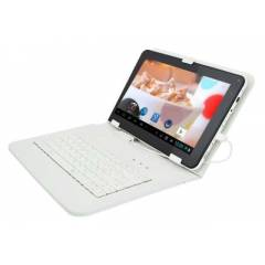 10.1 in� TABLET PC Klavyeli Deri KILIF * BEYAZ *