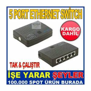 5 PORT ETHERNET SW�TCH MODEM PORT �O�ALTICI KD