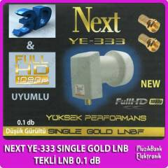 Next YE 333 SINGLE GOLD LNB TEKL� LNB 0.1 dB