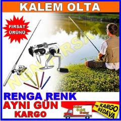 Kalem Olta Pocket Pen Fishing Rod HIZLI KARGO