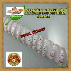RGB �ER�T LED 3 ��PL� 5MT 5050 S�L�KONLU 60 LED