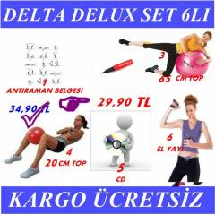 6 LI DELTA P�LATES SET 65 CM TOP BANT EL YAYI CD