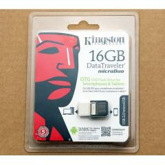 16 GB K�NGSTON DT MicroDuo USB 2.0 FLASH BELLEK