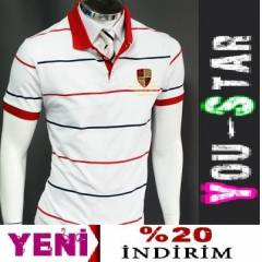 BOOMYOU Fashion Polo Yaka T-Shirt-S-M-L-XL-(A8J)