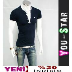 BOOMYOU Fashion V Yaka T-shirt (54WE)