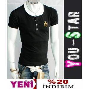 BOOMYOU Fashion V Yaka T-shirt -S-M-L-XL-(H66)