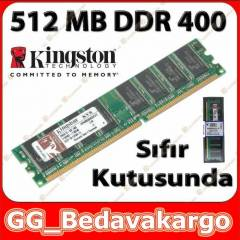 Kingston 512 MB DDR 400 Ram - S�f�r Kutusunda