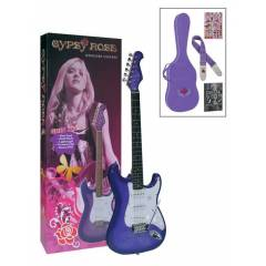 VALENCIA GRE1KCPP Elektro Gitar set Purple Ask�