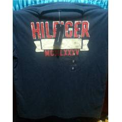 Tommy Hilfiger Erkek T-shirt  Medium Lacivert