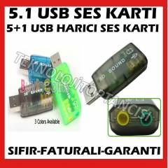 NOTEBOOK LAPTOP ���N HAR�C� USB SES KARTI 5.1