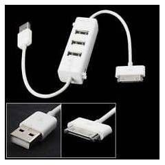 ipad 2 ipad3 new ipad USB �arj + 3 port USB hub