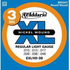 D'addario EXL110-3D Regular Light Tak�m Tel