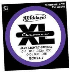 D'addario ECG24-7 Jazz Light Tak�m Tel