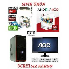 20 LED+AMD A4 4000+4 GB RAM+2 GB HAR�C�+500 GB H