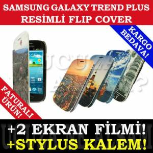 SAMSUNG GALAXY TREND PLUS KILIF FLIP COVER RES�M