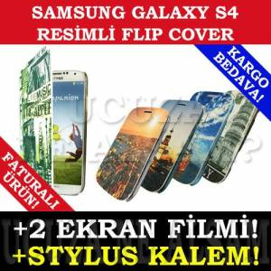SAMSUNG GALAXY S4 KILIF RES�ML� FLIP COVER YEN�!
