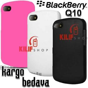 BlackBerry Q10 Sert Koruma Rubber K�l�f +3 Film