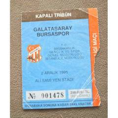 FUTBOL MA� B�LET� GALATASARAY BURSA 1995