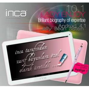 "INCA LADY ENJOY 10.1"" 16 GB PEMBE TABLET PC"