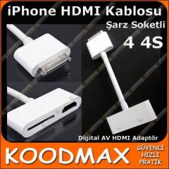 iPhone 4 4S Hdmi Kablosu Digital AV HDMI Adapt�r