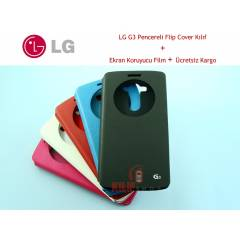 LG G3 Circle Flip Cover K�l�f + 2Film