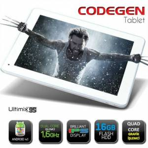 "CODEGEN ULTIMIX 9,7"" ��FT �EK�RDEK ��LEMC� 1GB"
