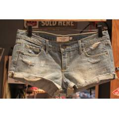 Abercrombie  Fitch Kot �ort - Destroyed Denim