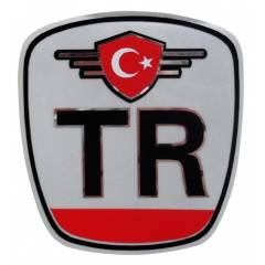 Z tech TR T�rkiye Bayra�� Fig�rl� Sticker